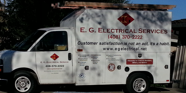 Truck of EG Electrical Services