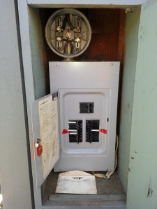 Old panel in Palo Alto to be replaced with a 100Amp SQUARE-D