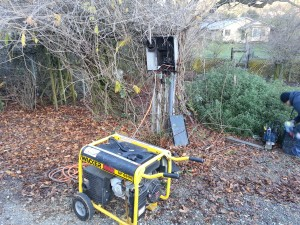 Had a temporary generator utill the power got restored next day.