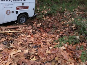 Vehicle stuck in a ditch in Morgan Hill mountains. Drive time 45 minutes to Morgan Hill, got stuck for 1 hour,  small repair took 15 minutes, 45 minutes drive back to office.